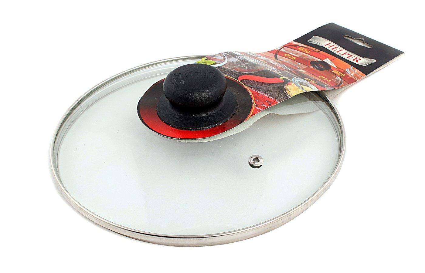 крышка до 24 см HELPER 4505 H003 стеклянная/пароотвод 24см