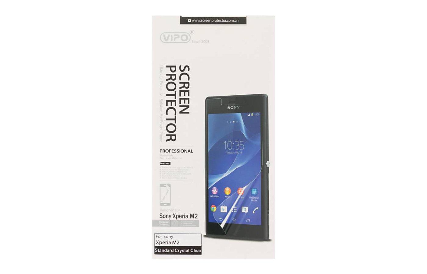 Стекло Vipo пленка для Sony Xperia M2 прозрачная