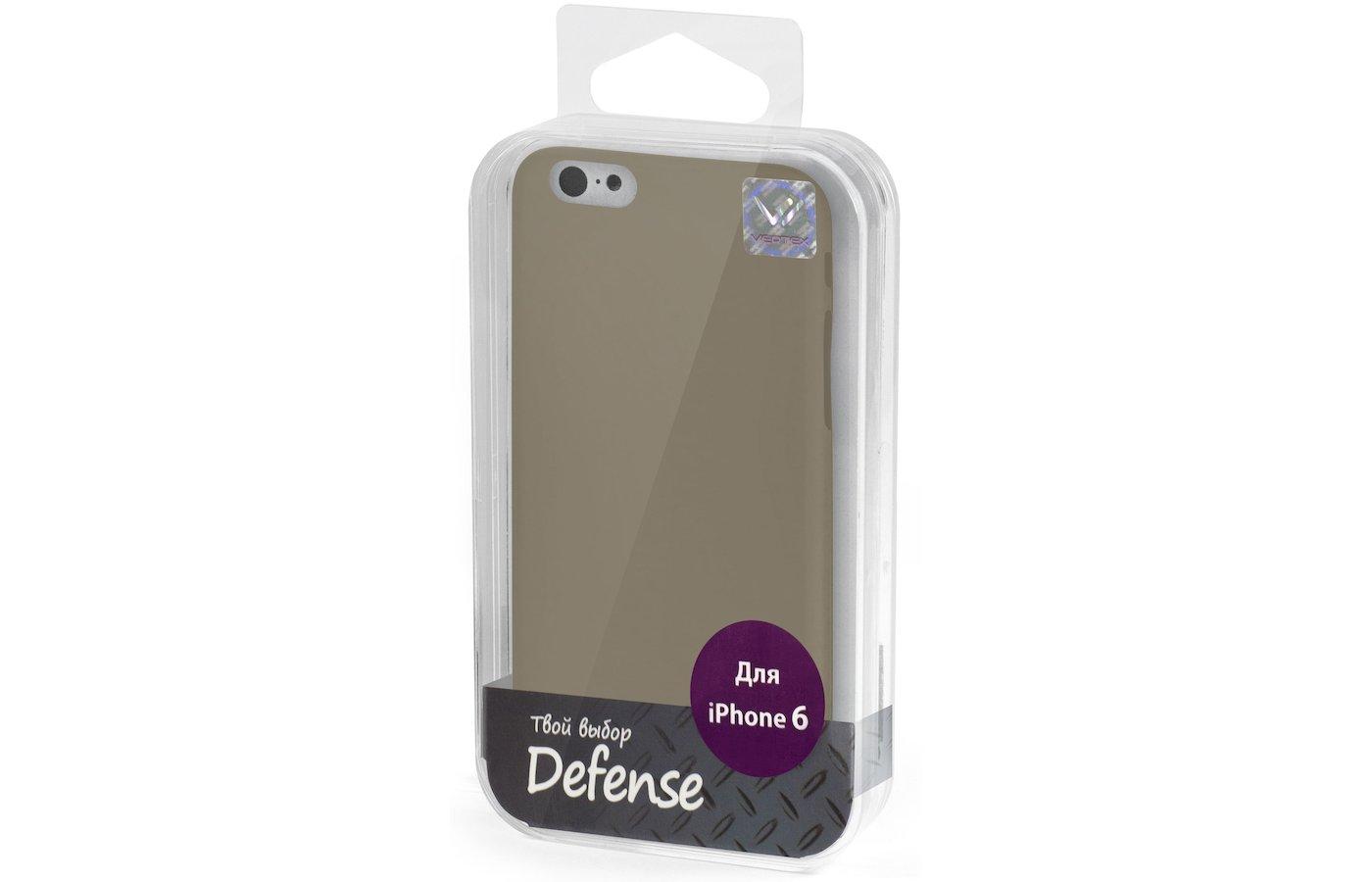 Чехол Vertex для iPhone 6/6S Клип-кейс черный дым