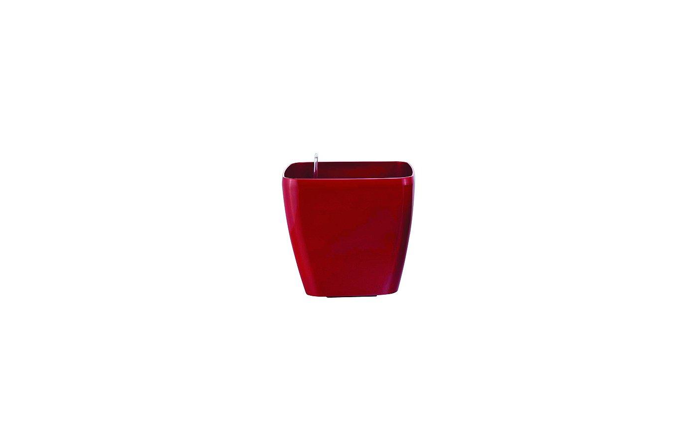 Инвентарь GREEN APPLE GPS10-11-R Квадр горшок с автополивом 18*18*16 красный