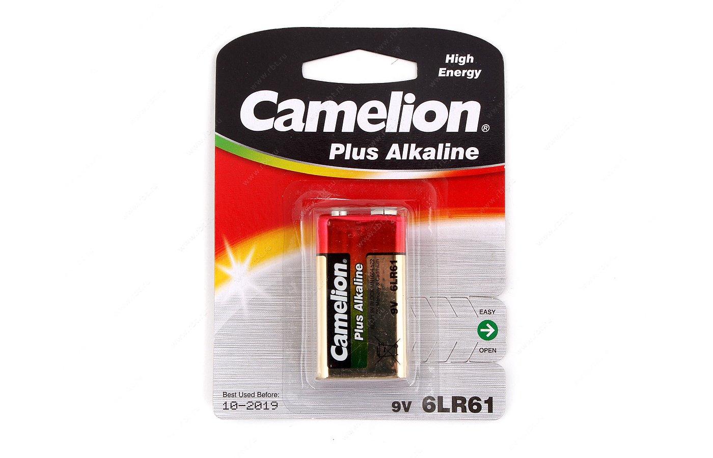 Батарейка Camelion Plus Крона 9V 1шт. (6LR61-BP1)