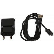 Фото Зарядное устройство Samsung СЗУ USB 2A + кабель microUSB black (EP-TA12EBEUGRU)