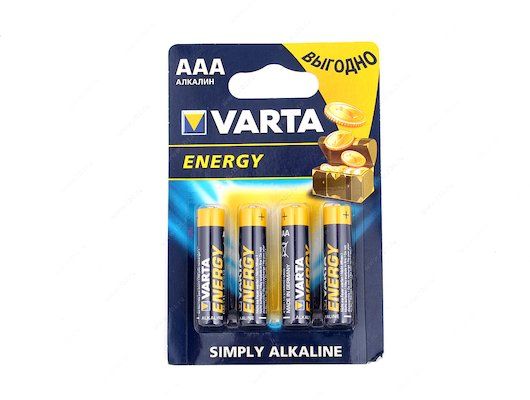 Батарейка VARTA Energy AAА 4шт. LR03/4BL