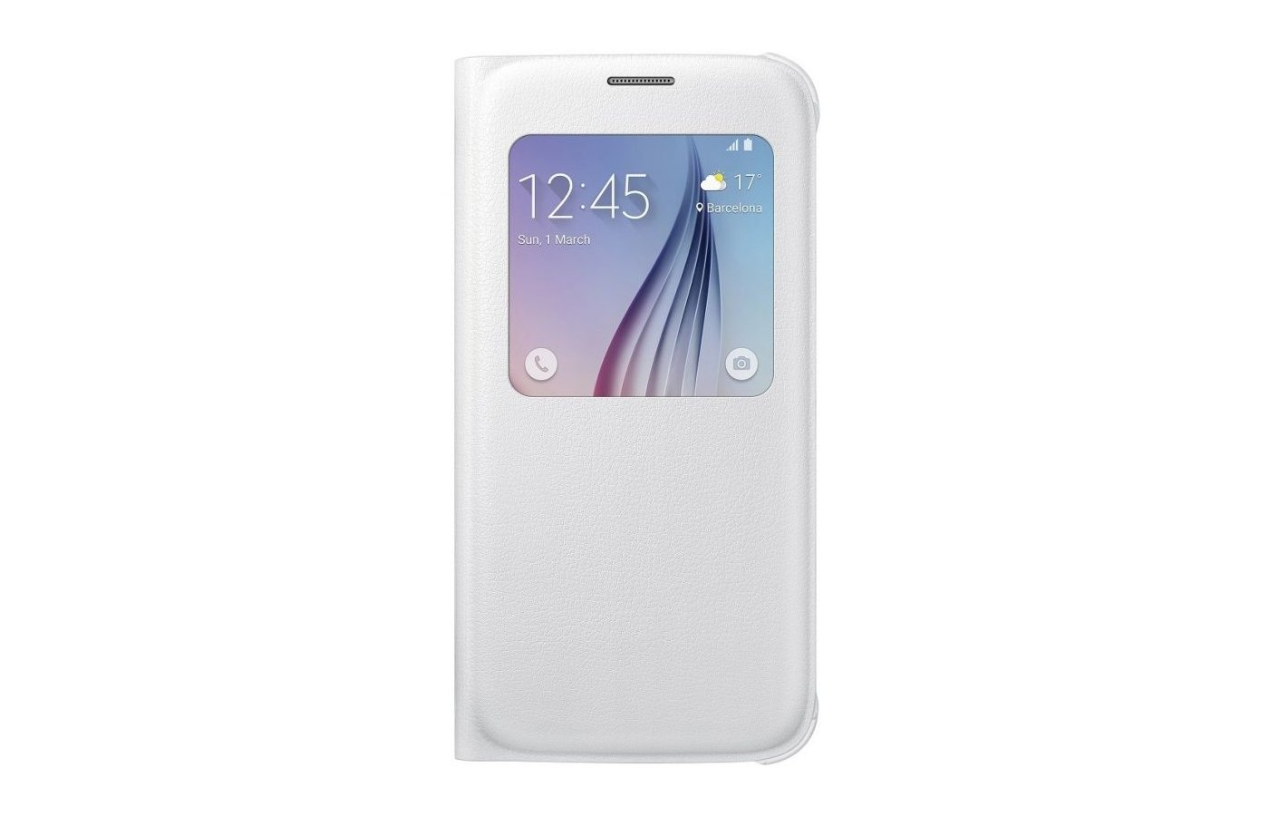 Чехол Samsung S-View для Galaxy S6 (SM-G920) (EF-CG920PWEGRU) белый