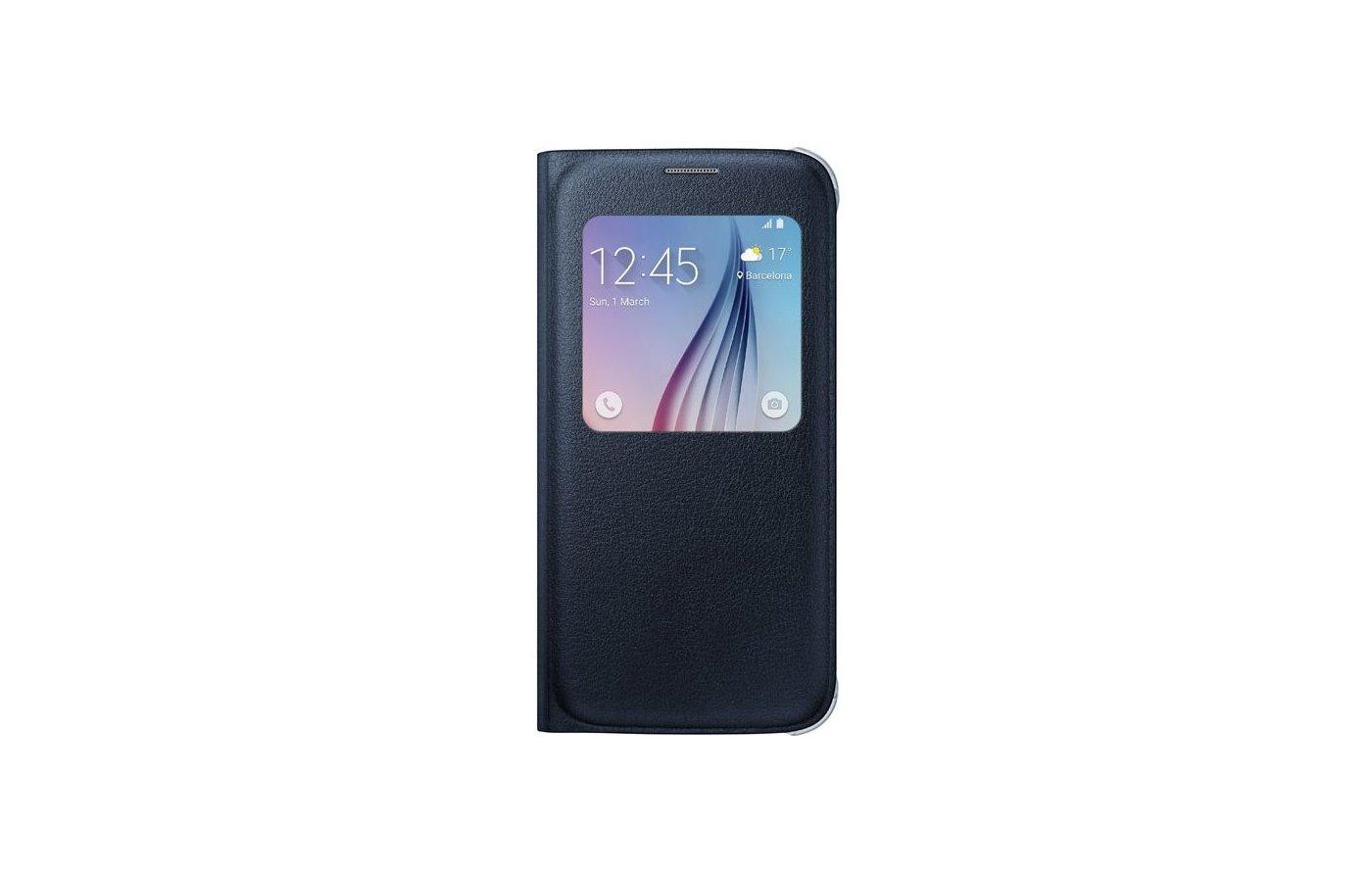 Чехол Samsung S-View для Galaxy S6 (SM-G920) (EF-CG920PBEGRU) черный