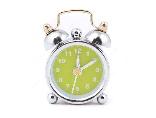 Будильник Hama H-113924 кварцевый Nostalgia mini аналоговый серебристый/зеленый