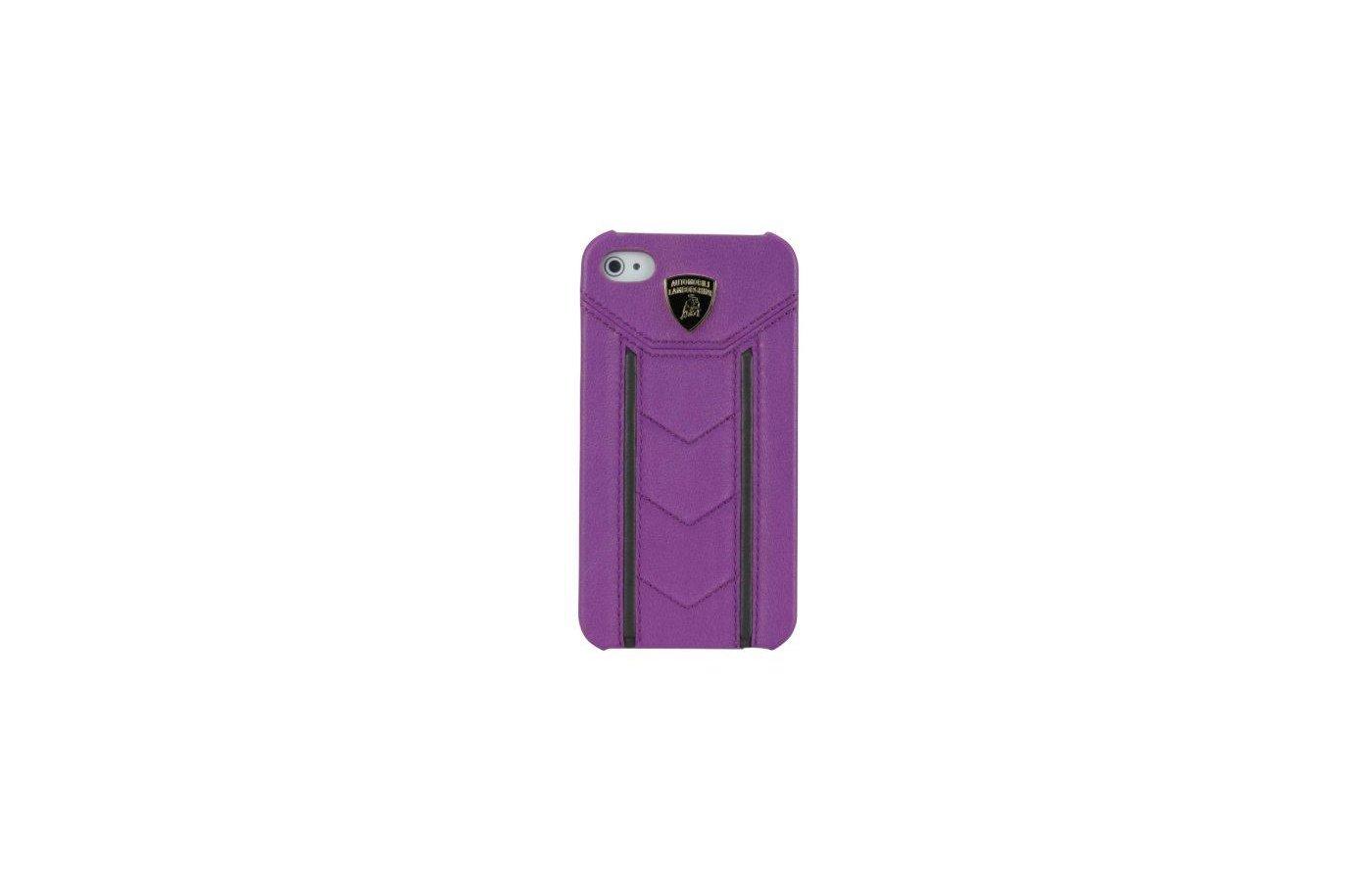 Чехол Lamborghini Gallardo-D2 для iPhone 4/4S (фиолетовый/черный)