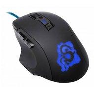 Мышь проводная Oklick 725G DRAGON черный/синий