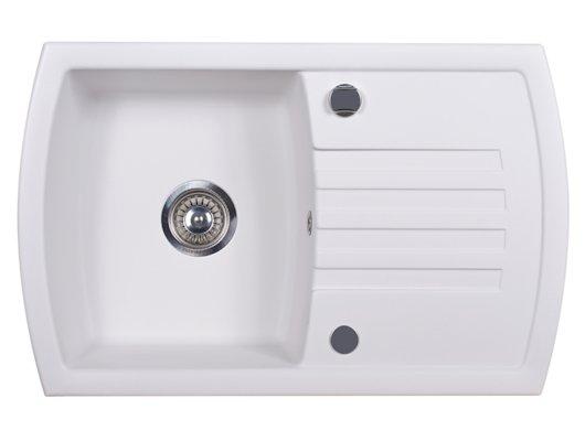 Кухонная мойка Kuppersberg ALBA 1B1D WHITE ALABAS