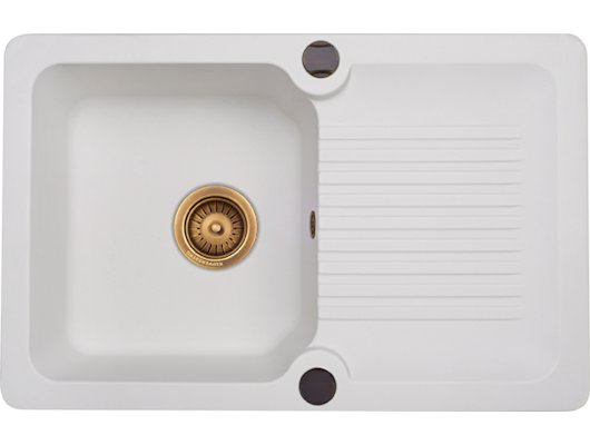 Кухонная мойка Kuppersberg ANCONA 1B1D WHITE