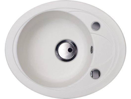 Кухонная мойка Kuppersberg CAPRI 1B1D S WHITE ALABAS