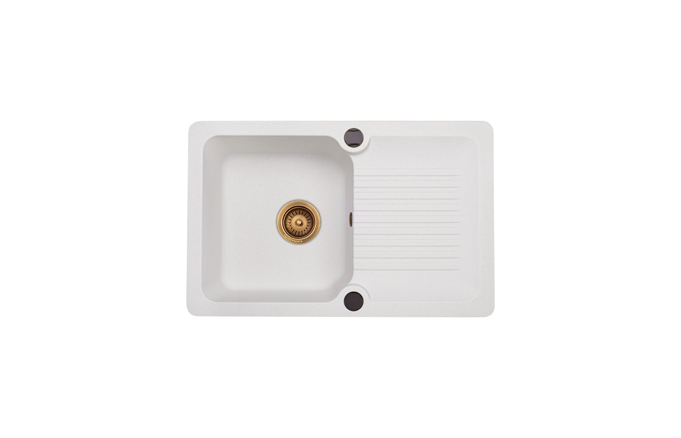 Кухонная мойка Kuppersberg ANCONA 1B1D WHITE ALABAS