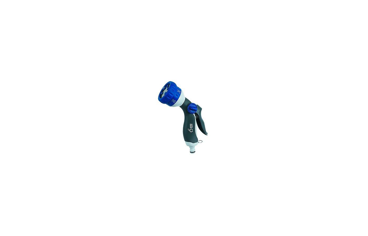 Поливочное оборудование GREEN APPLE GWHM12-038 Пистолет-распылитель, пластик, 6 режимов