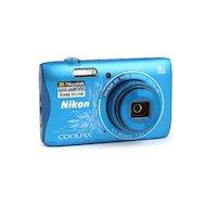 Фото Фотоаппарат компактный Nikon Coolpix S3700 blue lineart