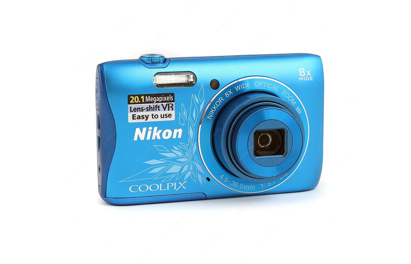 Фотоаппарат компактный Nikon Coolpix S3700 blue lineart