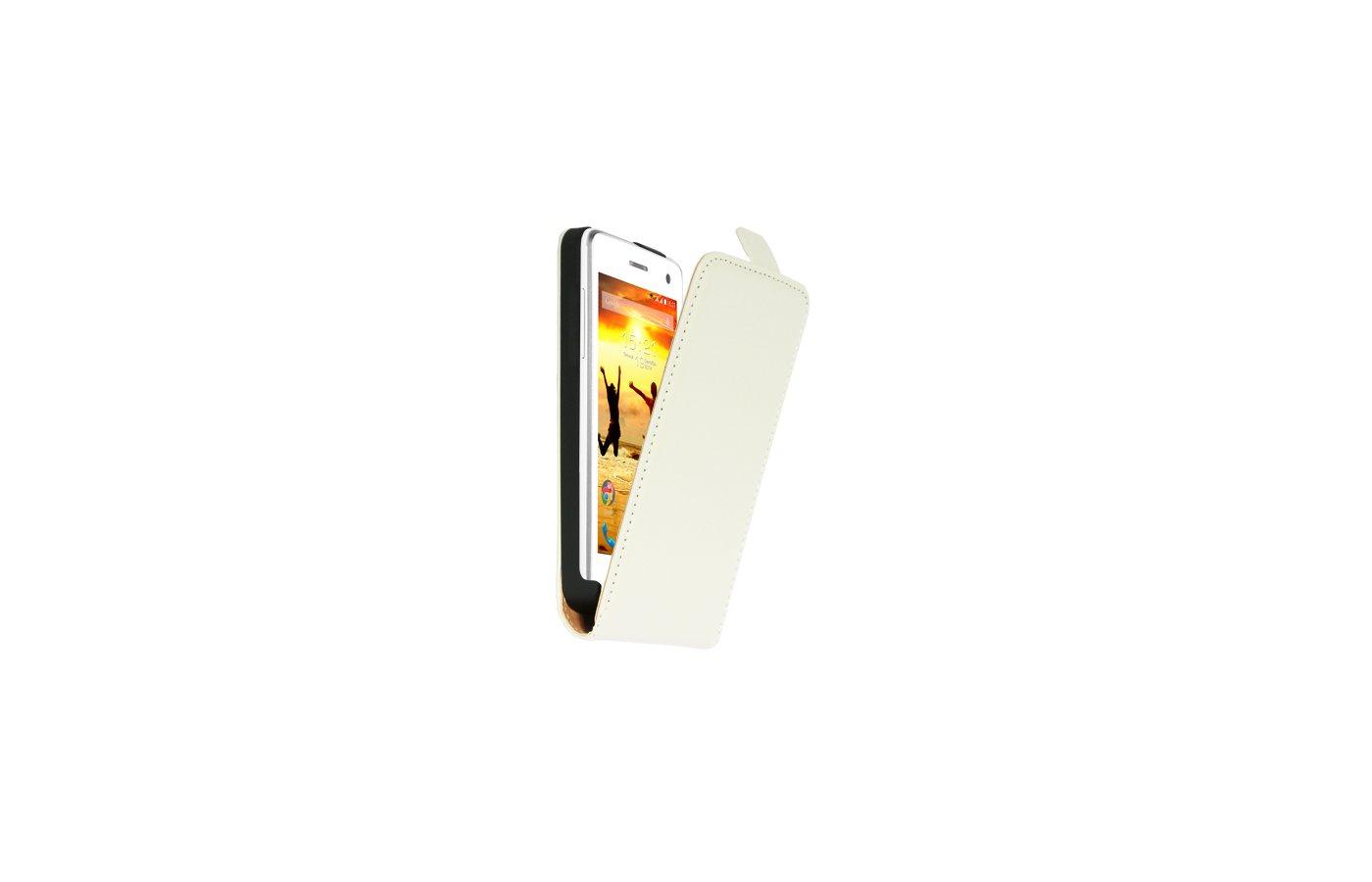 Чехол Nobby Comfort для FLY IQ4490i Era Nano 10 PU молочный