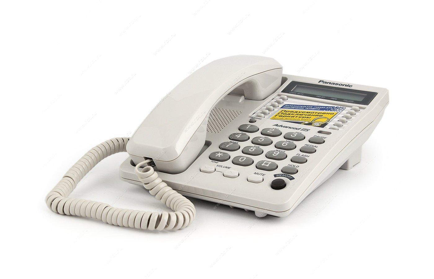 Проводной телефон PANASONIC KX-TS 2362RUW