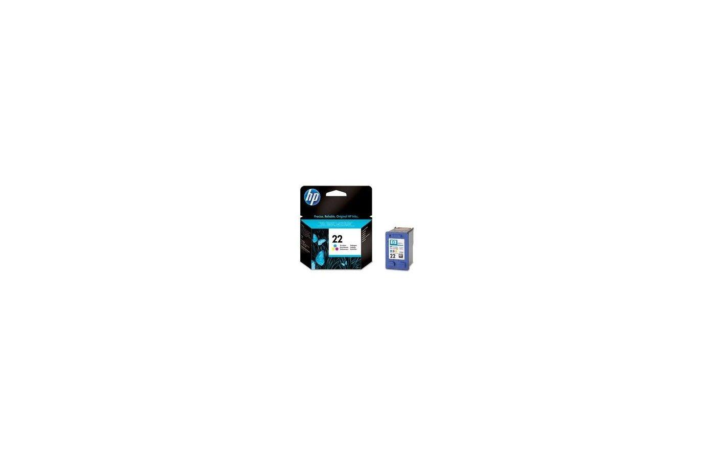 Картридж струйный HP 22 C9352AE многоцветный для DJ 3920/3940/PSC 1410 (165стр.)