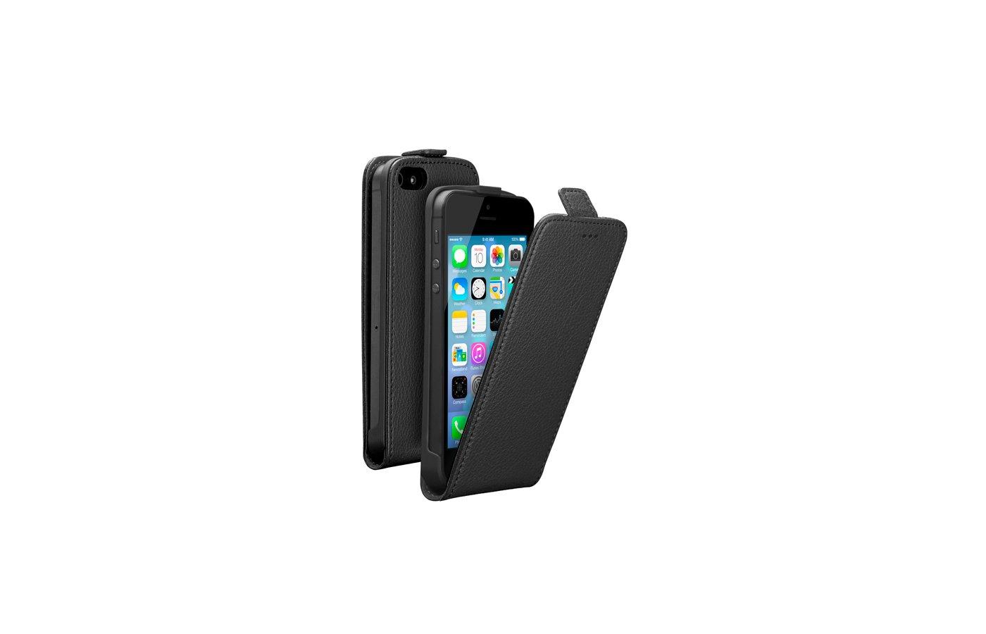 Чехол Deppa Flip Cover для iPhone 5/5S/SE магнит черный (81003)
