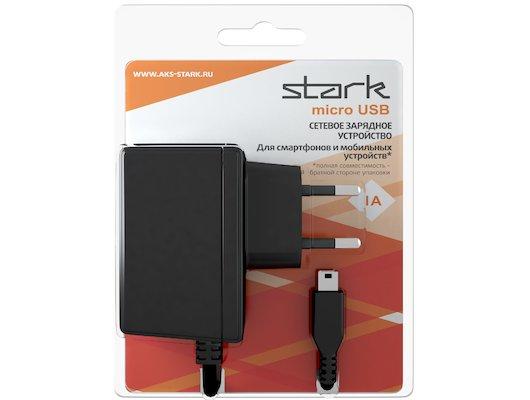 Зарядное устройство STARK СЗУ microUSB 1А черный