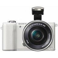 Фотоаппарат со сменной оптикой SONY Alpha ILCE-A5000LW 16-50mm white