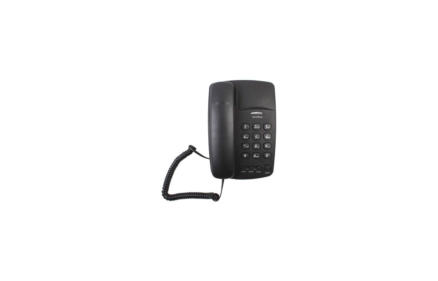 Проводной телефон SUPRA STL-310 black