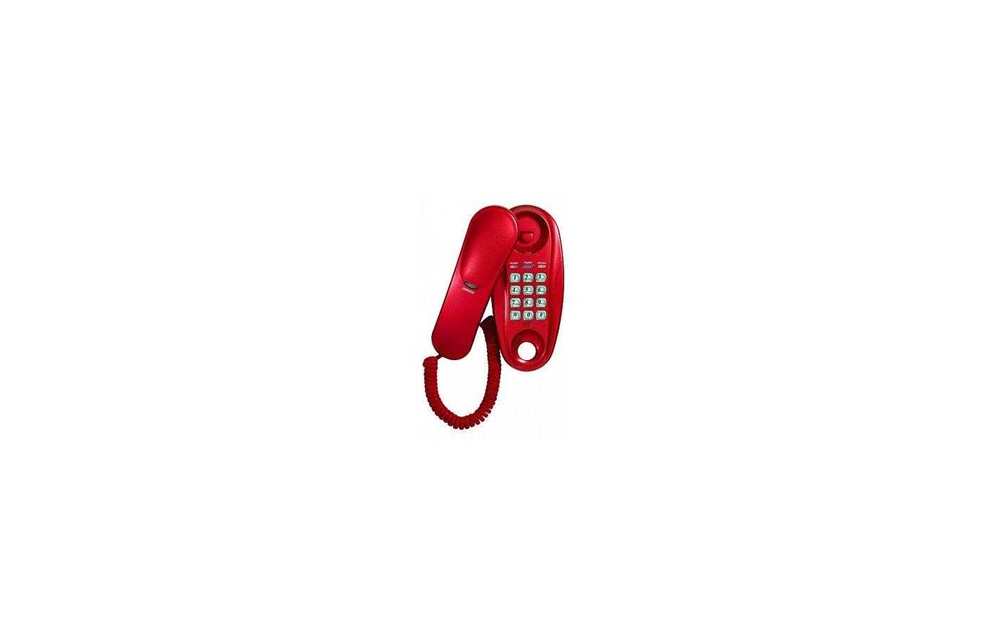 Проводной телефон SUPRA STL-112 cherry