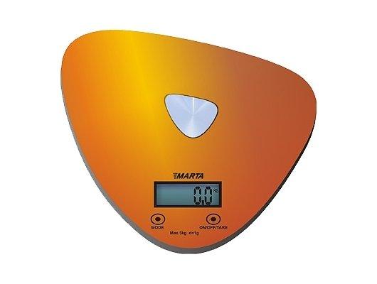 Весы кухонные MARTA MT-1632 золото/блестящий