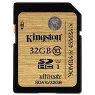 Фото Карта памяти Kingston SDHC 32Gb Class 10 Ultimate UHS-I R/W 90/45MB/s (SDA10/32GB)