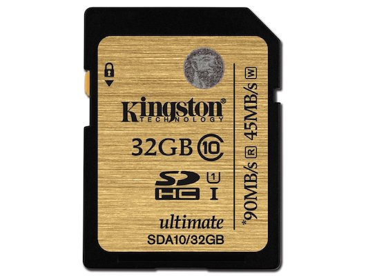 Карта памяти Kingston SDHC 32Gb Class 10 Ultimate UHS-I R/W 90/45MB/s (SDA10/32GB)