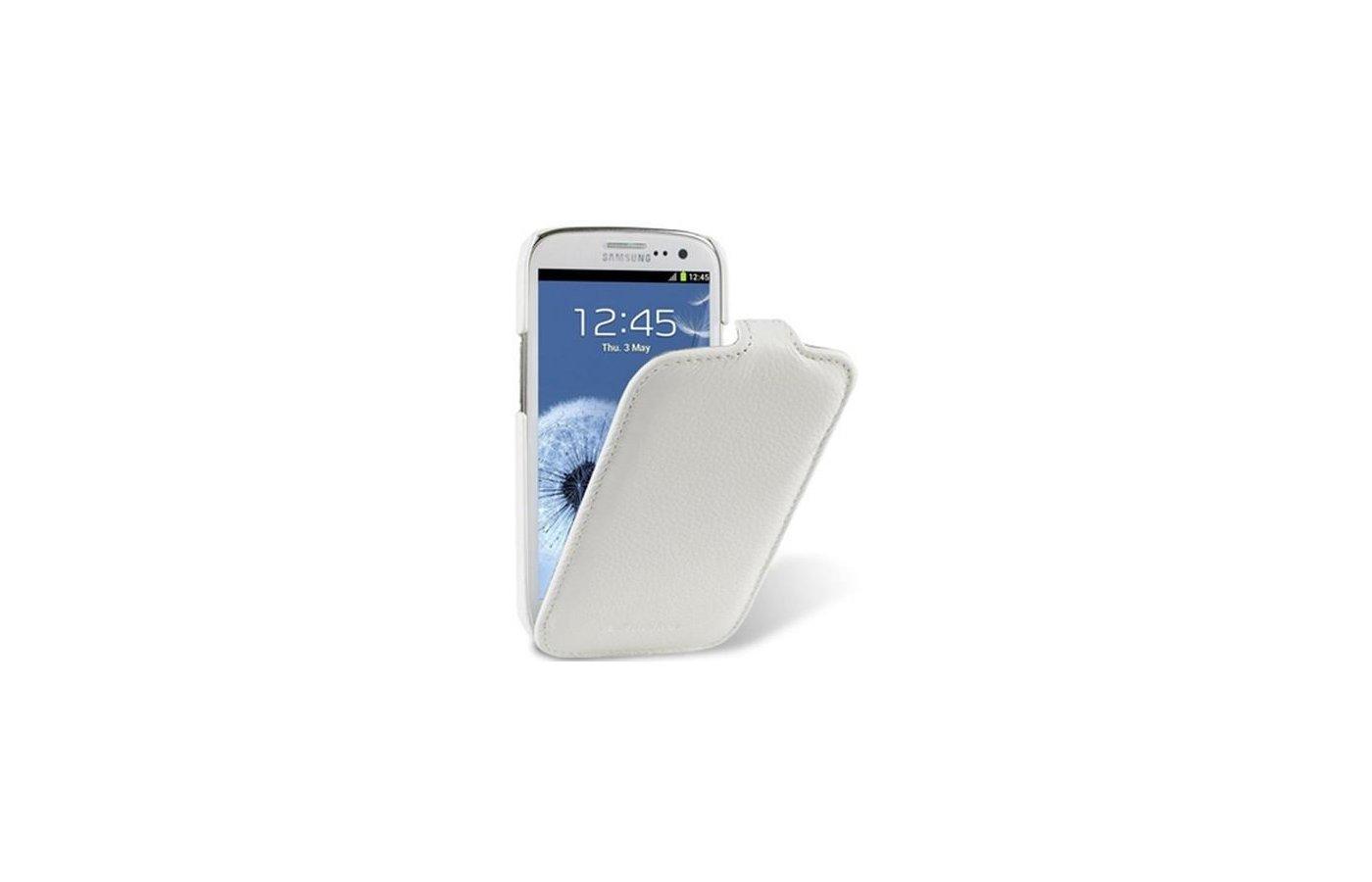 Чехол Melkco для Samsung Galaxy S3 (GT-i9300/9301) кожа белый