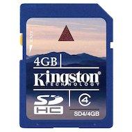 Фото Карта памяти Kingston SDHC 4Gb Class 4