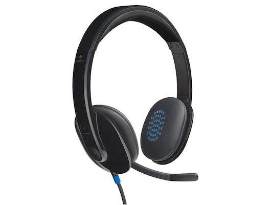 Наушники с микрофоном проводные Logitech Н540 USB