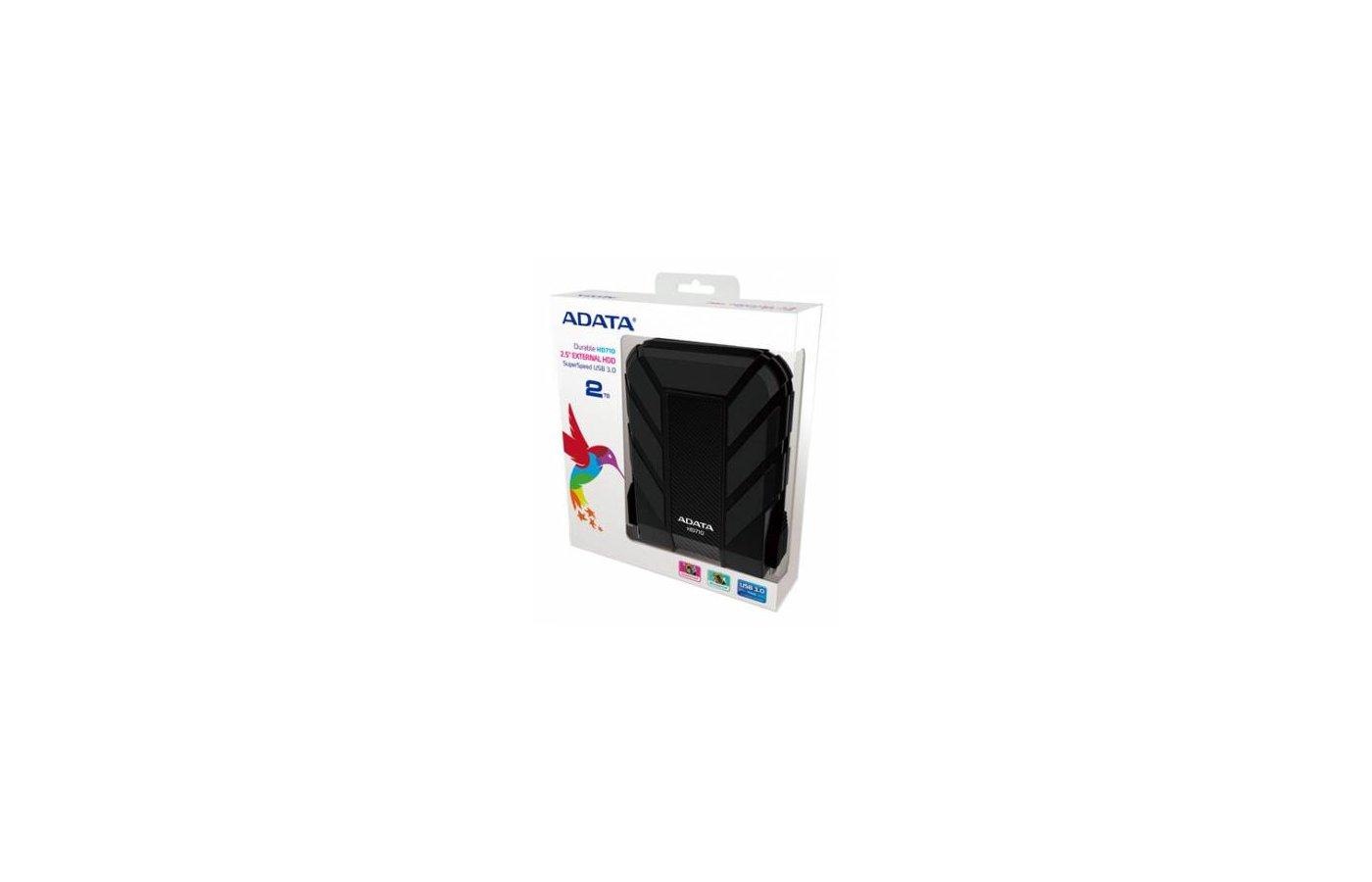 Внешний жесткий диск A-Data USB 3.0 2TB DashDrive HV620 Black