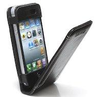 Фото Чехол Lanriz Magnet Flipper для iPhone 4/4S кожа черный (LIPHONE4MFBL)