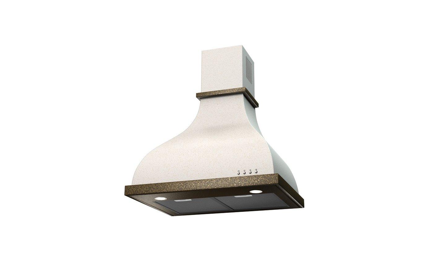 Вытяжка KRONA ALISA 600 white/bronze electronic