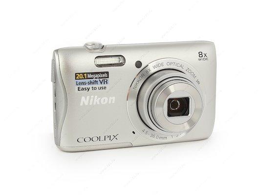Фотоаппарат компактный Nikon Coolpix S3700 silver