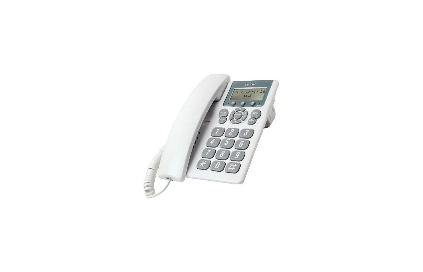 Проводной телефон TeXet TX-254 светло-серый