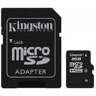 Фото Карта памяти Kingston microSDHC 8Gb Class 4 + адаптер