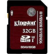 Фото Карта памяти Kingston SDHC 32Gb Class 10 UHS-I U3 (SDA3/32GB)