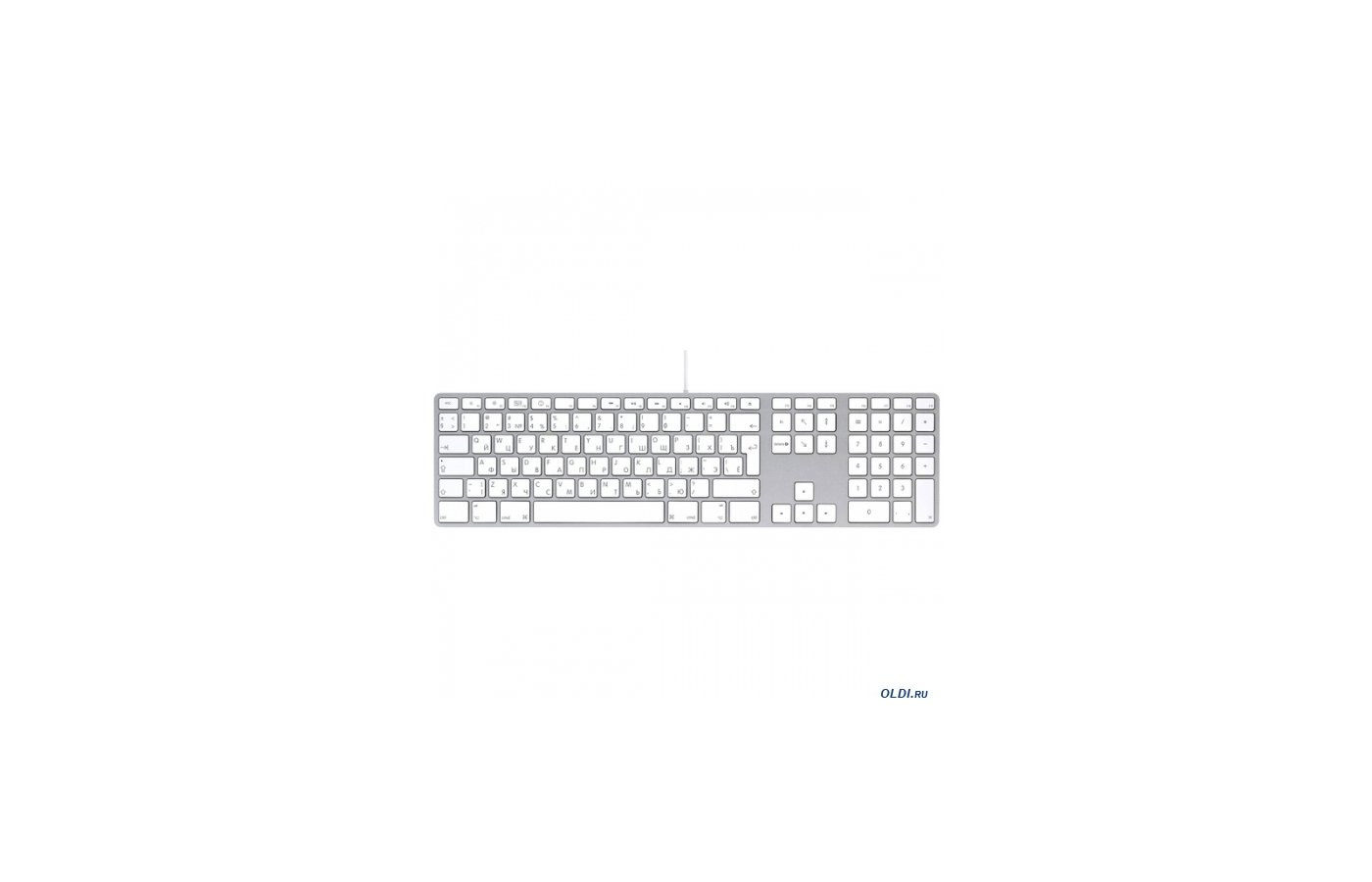 Клавиатура проводная Apple Keyboard with Numeric Keypad (MB110RU/B)