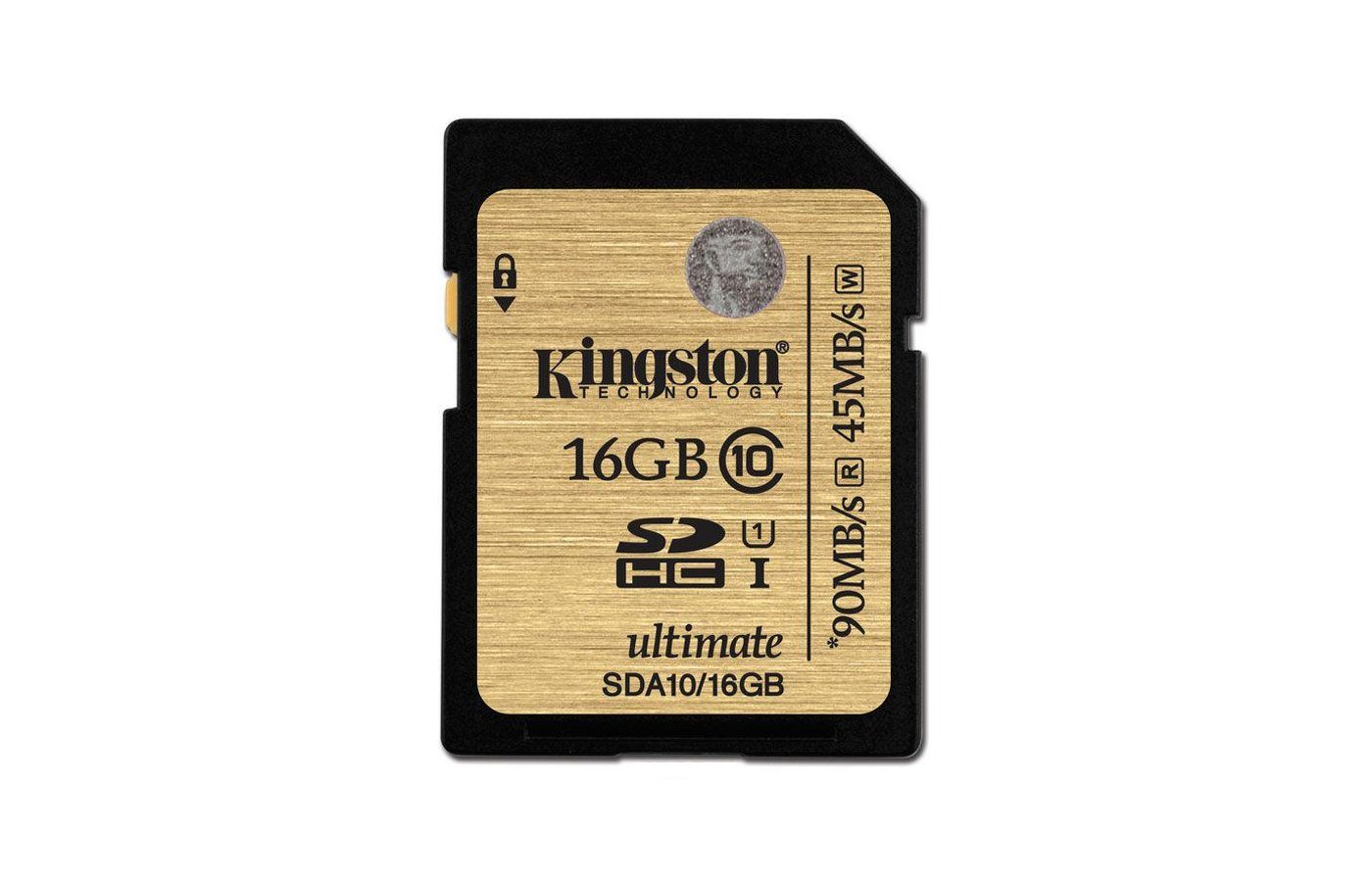 Карта памяти Kingston SDHC 16Gb Class 10 UHS-I Ultimate (SDA10/16GB)