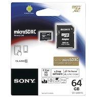 Карта памяти Sony microSDXC 64Gb Class 10 + адаптер (SR64NYAT)