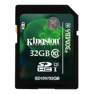 Карта памяти Kingston SDHC 32Gb Class 10 (SD10V/32GB)