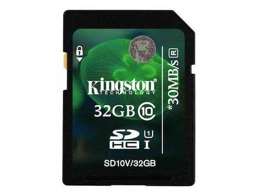Карта памяти Kingston SDHC 32Gb Class 10 (SD10V/32GB)