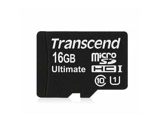 Карта памяти Transcend microSDHC 16Gb Class 10 (TS16GUSDCU1)