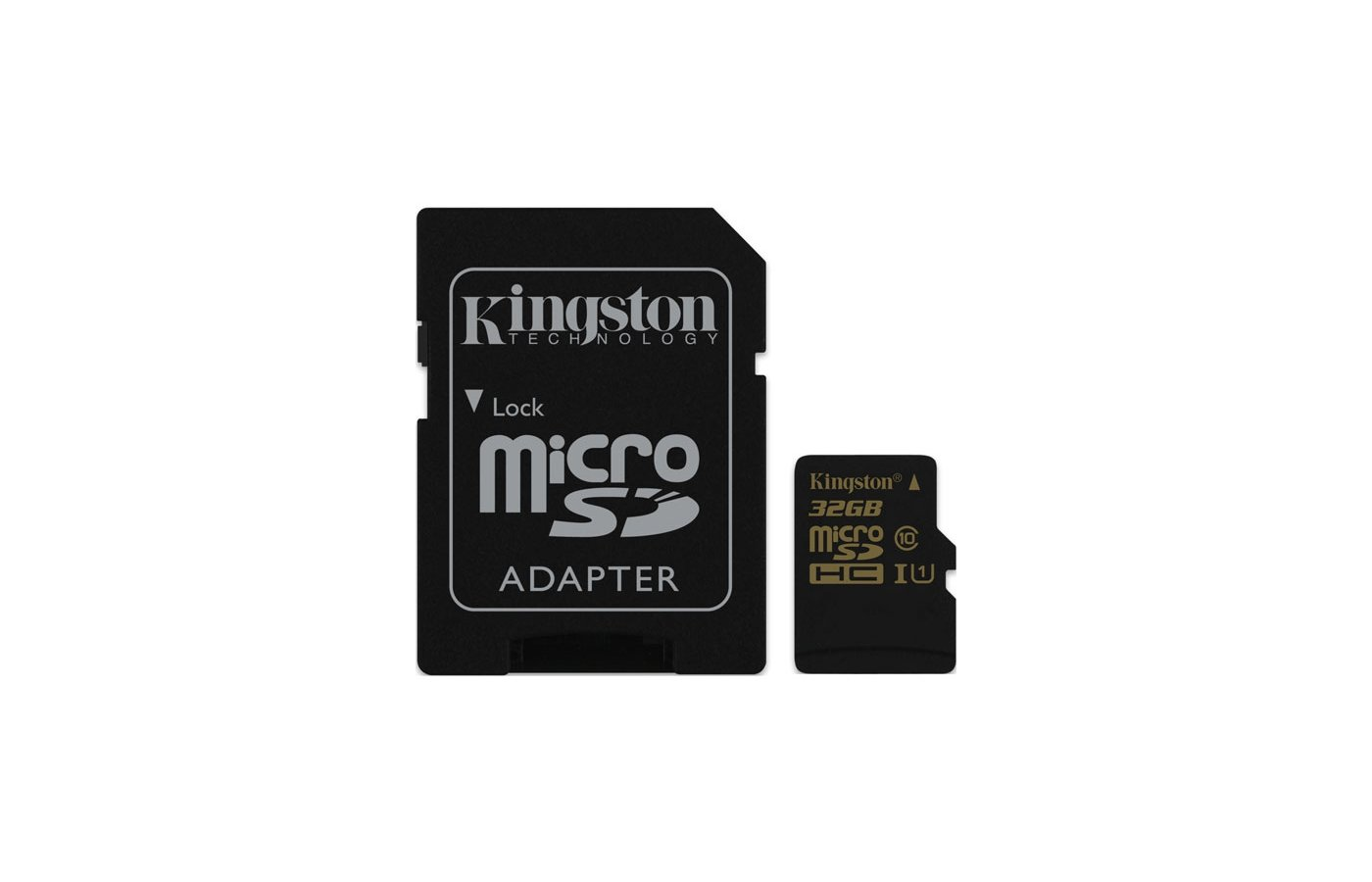 Карта памяти Kingston microSDHC 32Gb Class 10 + адаптер UHS-I 90R/45W (SDCA10/32GB)