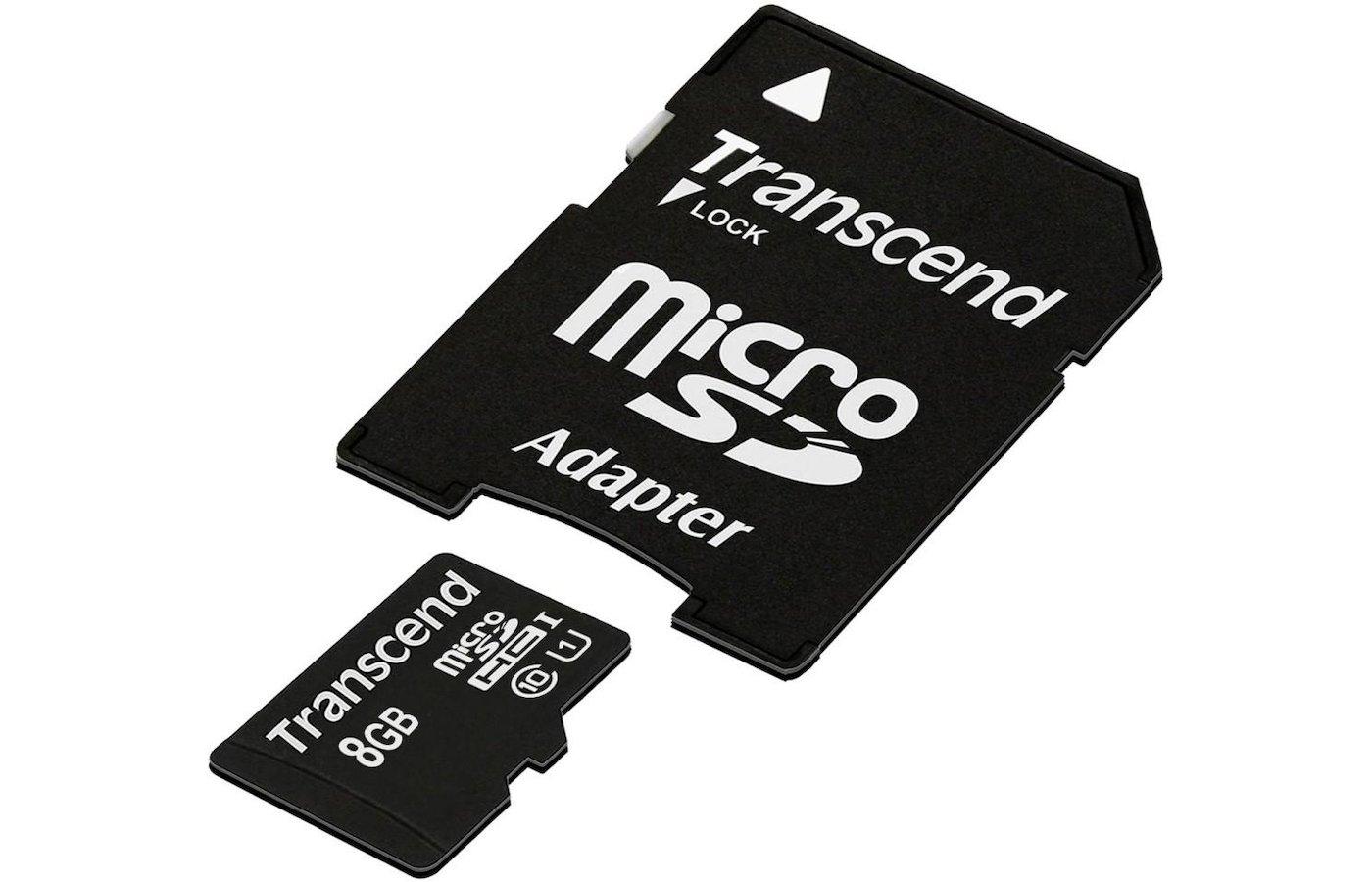 Карта памяти Transcend microSDHC 8Gb Class 10 UHS-I 300X PREMIUM + адаптер (TS8GUSDU1)