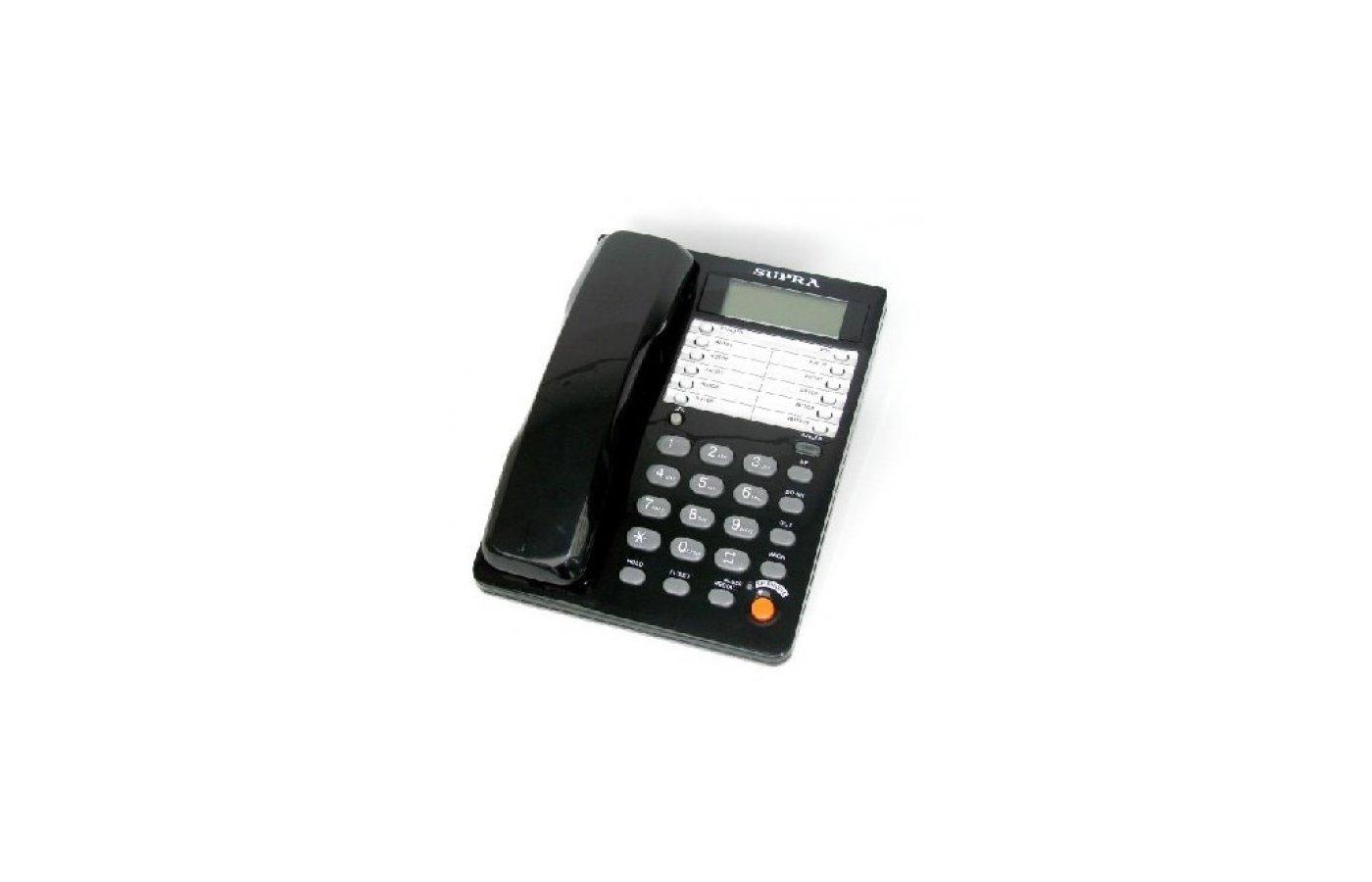 Проводной телефон SUPRA STL-431 black