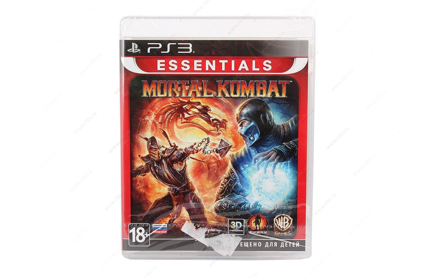 Mortal Kombat (Essentials) (с поддержкой 3D) PS3 русская документация